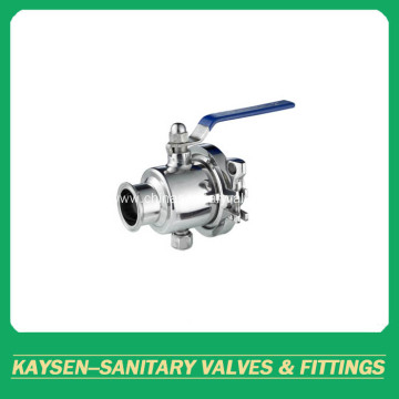 DIN Sanitary Clamped Non-retention Ball Valve