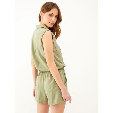 Ladies green casual jumpsuit