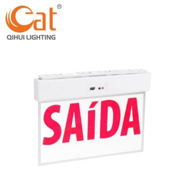 LED Saida Emergency Exit Sign With Lights Powered