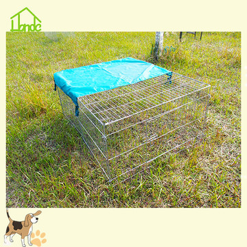 Folding wire rabbit cage