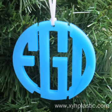Color Acrylic Circle Christmas Ornament Monogram Acrylic