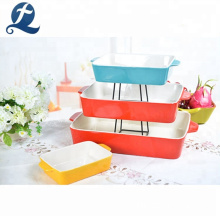 A Set Of 4 Heat Resistance Ceramic Baking Dishes Color Bakeware