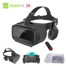 Original Bobovr Z5 3D VR Glasses Virtual Reality Glasses Immersive Android 120 FOV Google Cardboard Helmet For 4-6.2' Smartphone