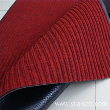Outdoor welcome polyester antislip stripe floor mat