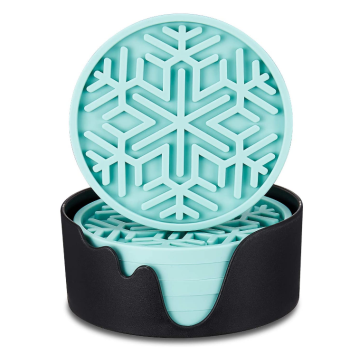 Food Grade Custom Snow Silicone  Drink Coasters