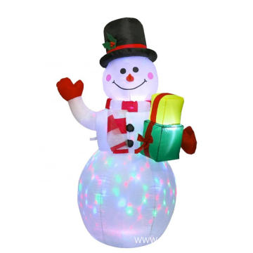 5ft Outdoor Decoration LED US Christmas Snowman Inflatable