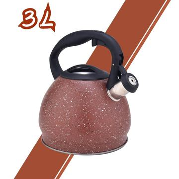 Red Durable Color Stainless Steel Whistling Teapot