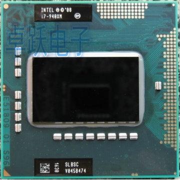 Top Extreme Edition Processor Intel i7 940XM SLBSC 2.1GHz Quad Core 8MB Cache TDP 55W Laptop CPU Socket G1 HM55 QM57 I7-940XM