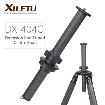 XILETU DX-404C Professional Carbon Fiber Extension Rod Stick Thread Stabilizer Tube for L-404 Professional Carbon Fiber Tripod