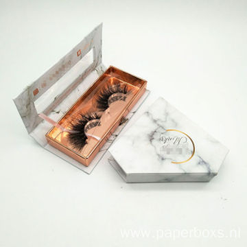 Luxury Marble Look Eyelash Packaging Paper Box