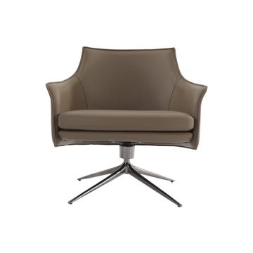 Modern Lounge Room Aniline Leather Arm Chair