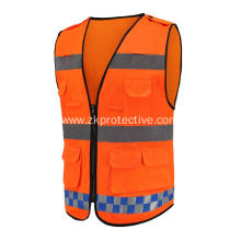 hot sell orange summer Road reflective jacket