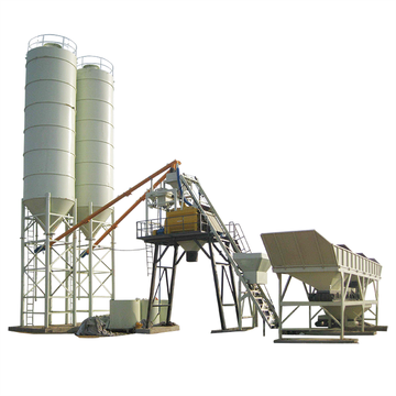 HZS75 ready-mix mini bucket-type concrete batching plant