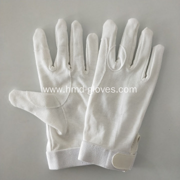 White Cotton Horse Riding Gloves