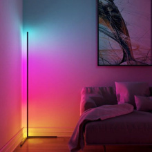 Nordic Minimalist Corner RGB LED Floor Lamp Lighting Modern Dimming Floor Light for Living Room Bedroom Indoor Light Fixtures