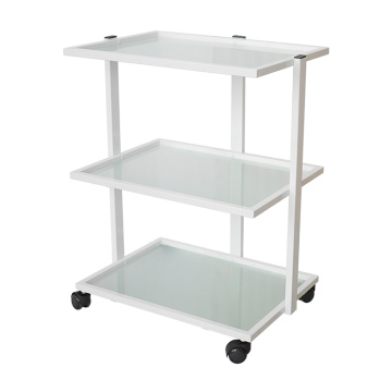 Salon Glass Trolley Cart With Wheels