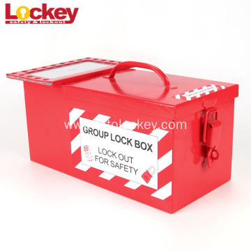 Portable Group Steel Box Plate Safety Lockout Box