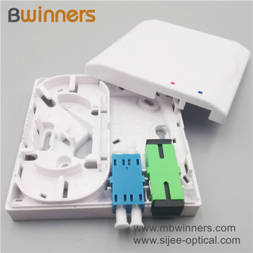 2 Ports Fiber Faceplate Ftth Fiber Optic Socket Panel Fiber Wall Socket