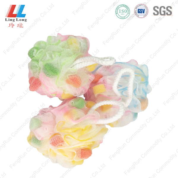 Colorful style bath ball with little sponge