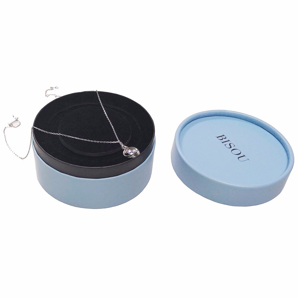 OEM Matt Black Paper Necklace Gift Packaging Box