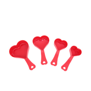 Food Grade Heart Shape Measuring Cups Set