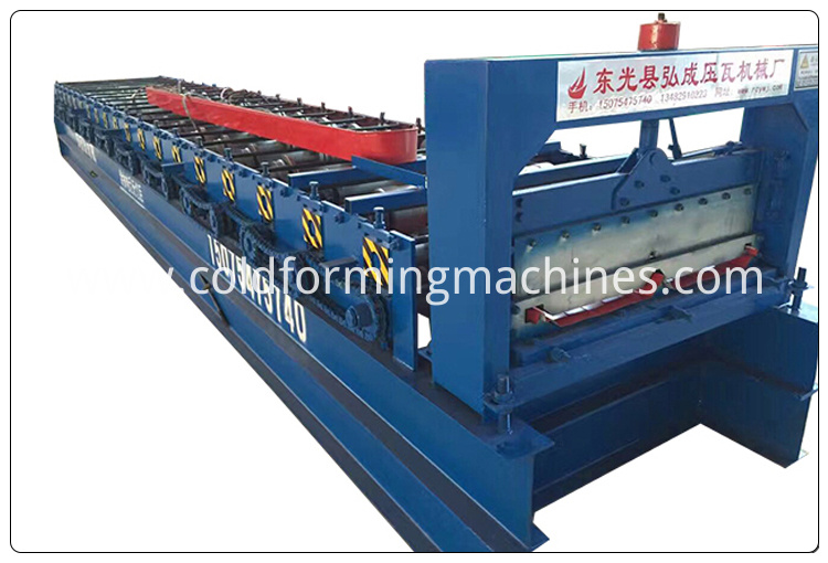 2 joint hidden roll forming machine