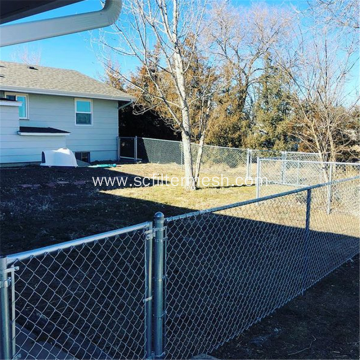 PVC/Galvanized Chain Link Mesh As Building Fence