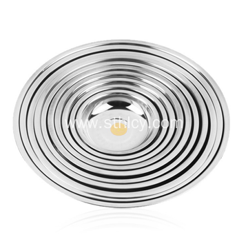 Hight Quality Stainless Steel Round Serving Tray