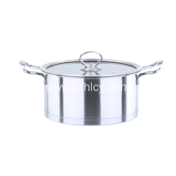 Stainless Steel Hot Pot With Glass Cover