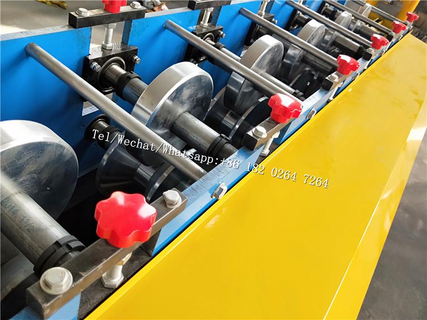 sliding U Shaped Profile door guide rail roll forming machine