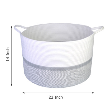 XXL Extra Large High Quality Cotton Rope Hamper Basket With Handle