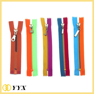 Custom lace multi-color tape plastic teeth zipper