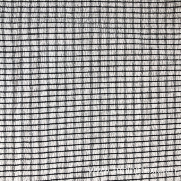 Knitted Crinkle With Black White Check