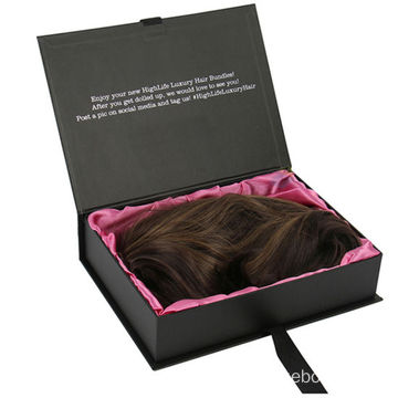 Luxury Hair Extension Packaging Gift Box with Ribbon