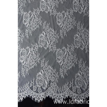 100% Nylon Panel Lace Fabric Design-B