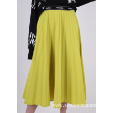 LADIES PLEATED MIDI SKIRT