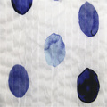 Blue dot cotton voile wrinkle fabric