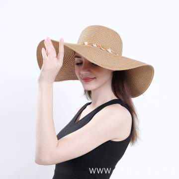 Wholesale summer hat beach sun paper straw hat