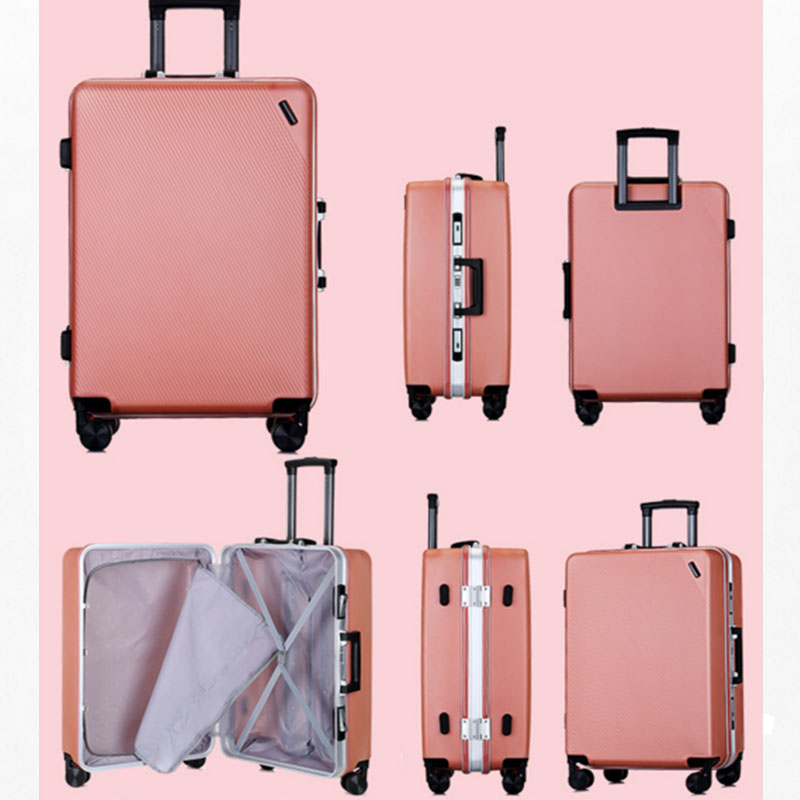 Aluminum frame series ABS PC luggage