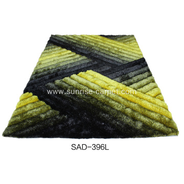 Polyester Silk Shag 3D Carpet