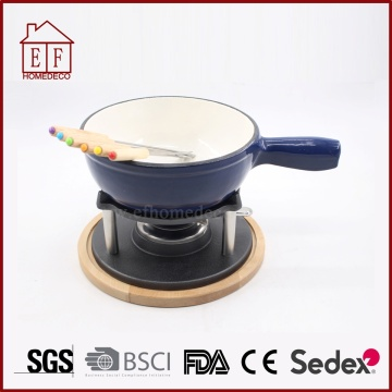 Enamel Cast Iron Melting Chocolate Cheese Fondue Sets