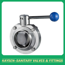 3A DIN Hygienic Welded Butterfly Valves SS304