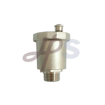 Brass air vent exhaust valve