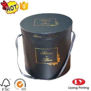 Fashion round flower hat gift box packaging