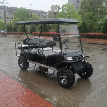 6 passengers black 4wd golf cart for sale