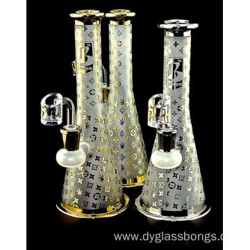 High Quality Gold Tower Shape Glass Smoking Bongs