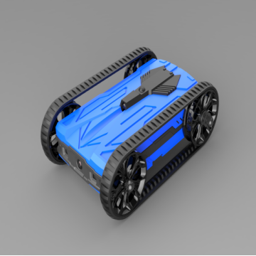 Blue AR racing battle tank for kids