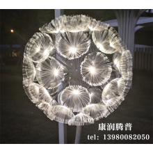 Customized Led Jellyfish Dandelion  Fiber Optic Light
