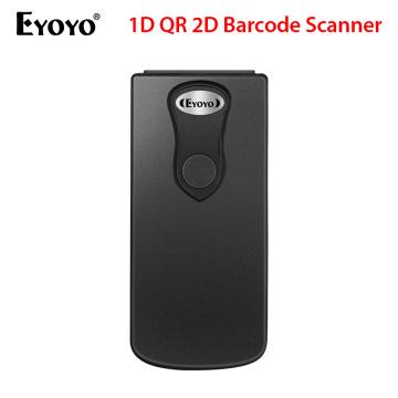 Eyoyo Bluetooth 1D QR 2D Barcode Scanner USB Wired & 2.4G Wireless & Bluetooth Bar Code Reader Portable CCD Screen Scanner