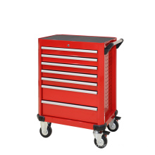 7 Drawer Red Rolling Tool Cabinet